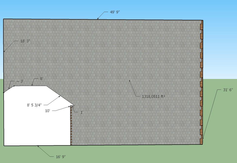 Mur latéral Est